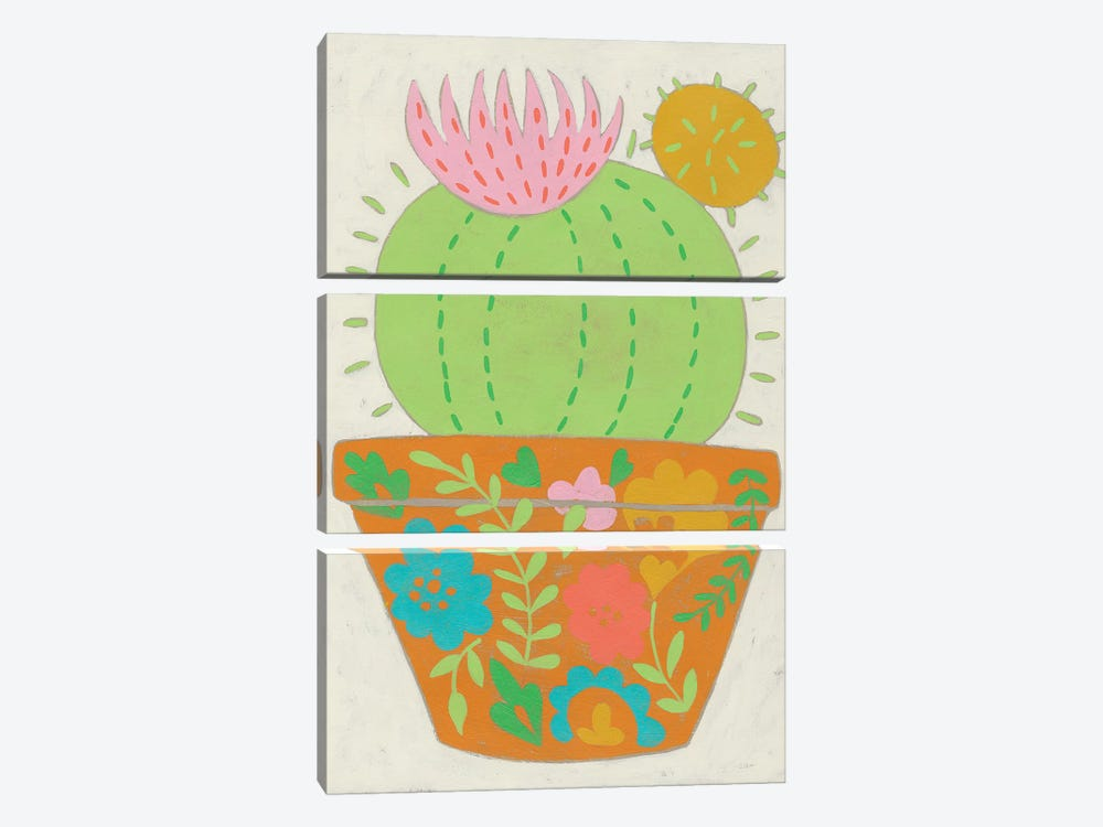 Happy Cactus III by Chariklia Zarris 3-piece Art Print