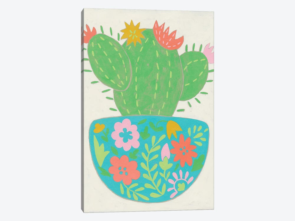 Happy Cactus IV by Chariklia Zarris 1-piece Canvas Art
