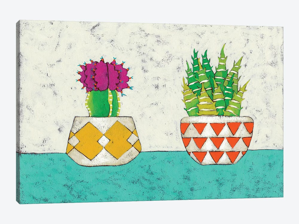 Succulent Duo II by Chariklia Zarris 1-piece Canvas Print