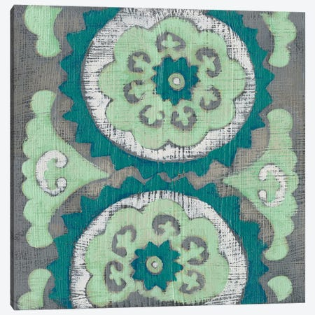 Teal Tapestry III 3-Piece Canvas #ZAR585} by Chariklia Zarris Canvas Art