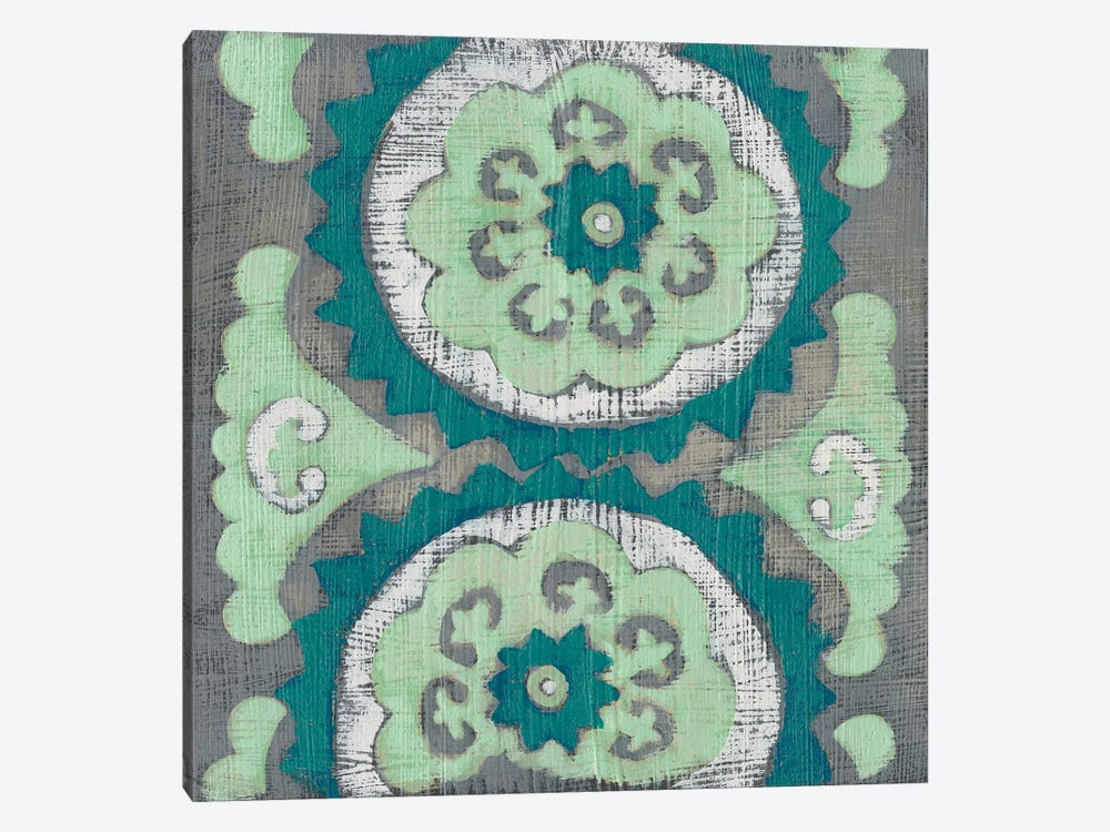 Teal Tapestry III by Chariklia Zarris 1-piece Canvas Print