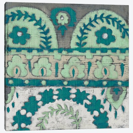 Teal Tapestry IV Canvas Print #ZAR586} by Chariklia Zarris Canvas Artwork