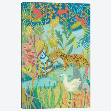 Jungle Dreaming I Canvas Print #ZAR593} by Chariklia Zarris Canvas Artwork