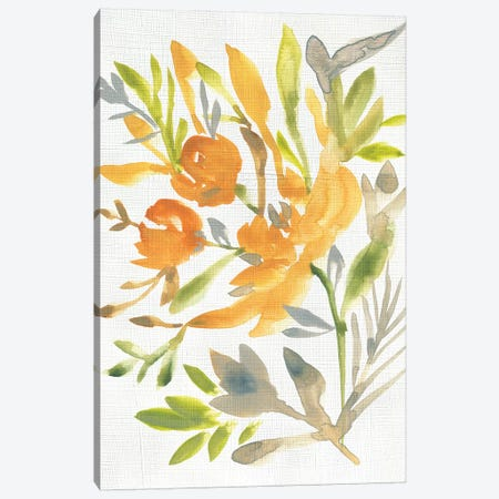 Butterscotch Bouquet I 3-Piece Canvas #ZAR597} by Chariklia Zarris Canvas Art Print