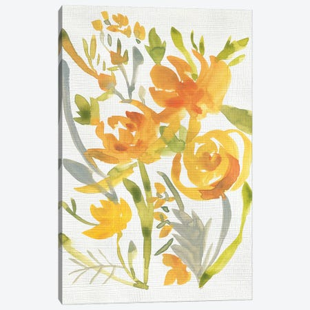 Butterscotch Bouquet II 3-Piece Canvas #ZAR598} by Chariklia Zarris Canvas Art