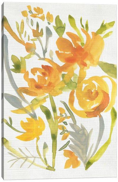 Butterscotch Bouquet II Canvas Art Print