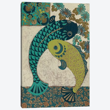 Koi Ornament I Canvas Print #ZAR5} by Chariklia Zarris Art Print