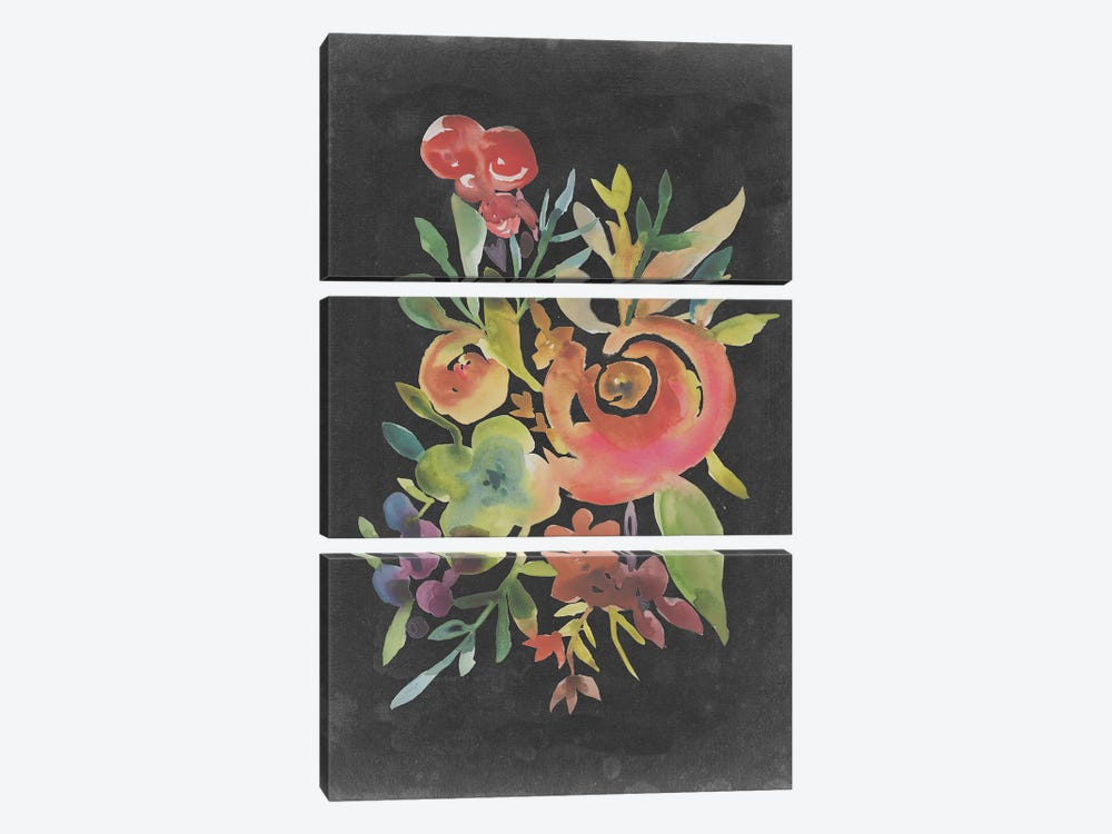 Velvet Floral I by Chariklia Zarris 3-piece Canvas Art Print