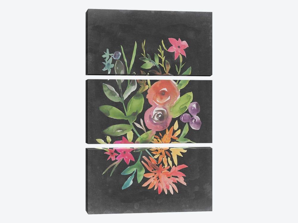 Velvet Floral II by Chariklia Zarris 3-piece Art Print