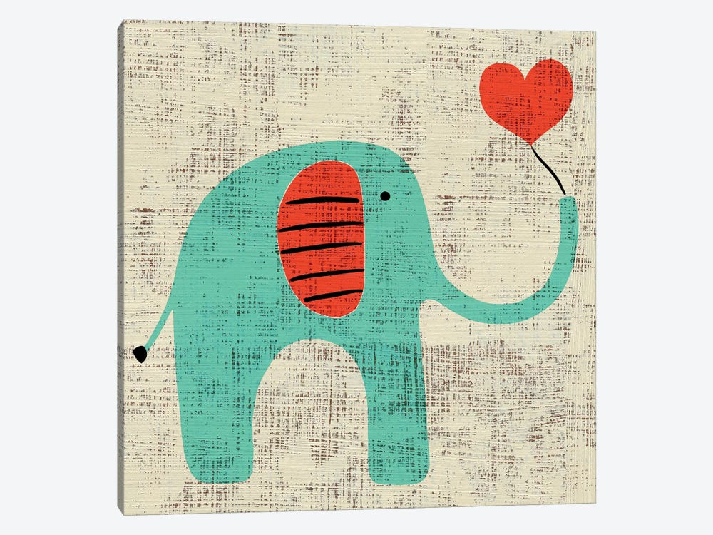 Ada's Elephant by Chariklia Zarris 1-piece Canvas Print