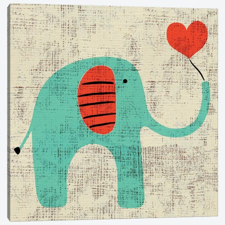 Ada's Elephant Canvas Print #ZAR63} by Chariklia Zarris Canvas Print