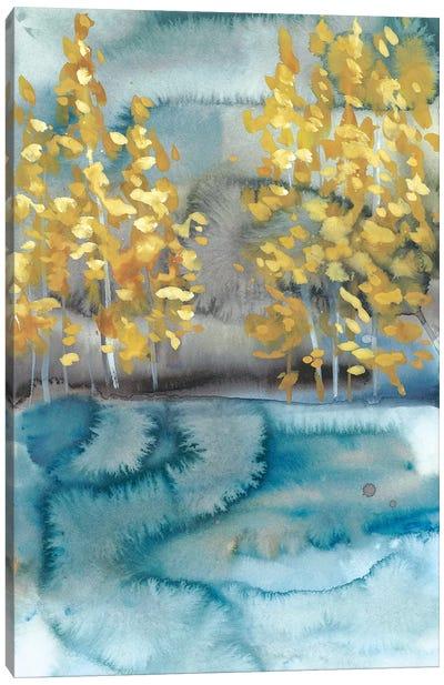 Golden Trees II Canvas Art Print