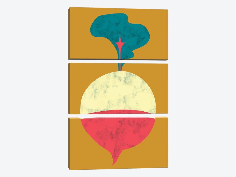 Veggie Party VIII by Chariklia Zarris 3-piece Canvas Wall Art