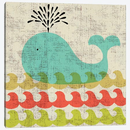 Ada's Whale Canvas Print #ZAR65} by Chariklia Zarris Canvas Art