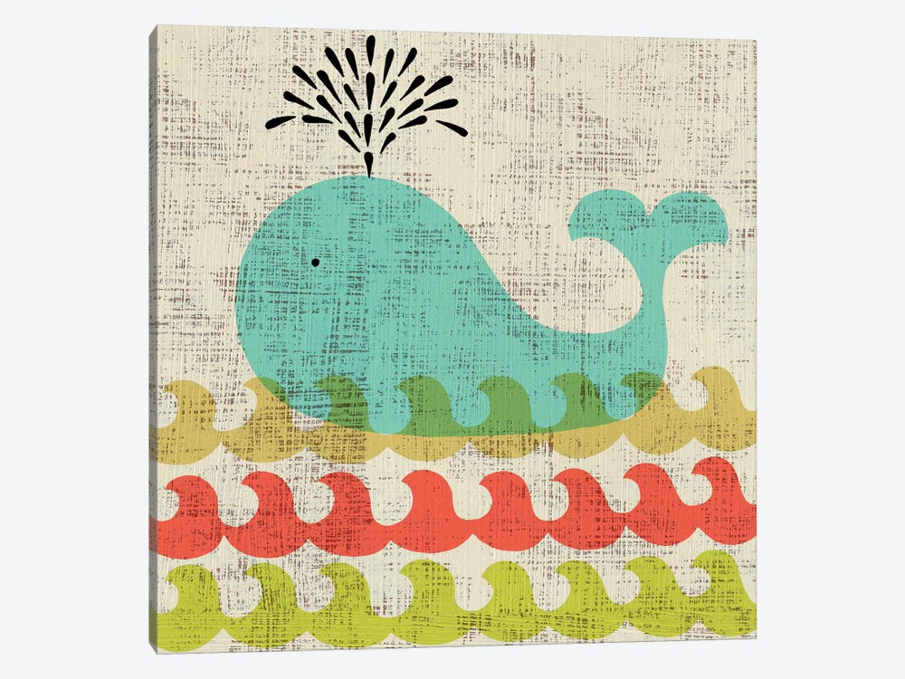 Ada's Whale by Chariklia Zarris 1-piece Canvas Art Print