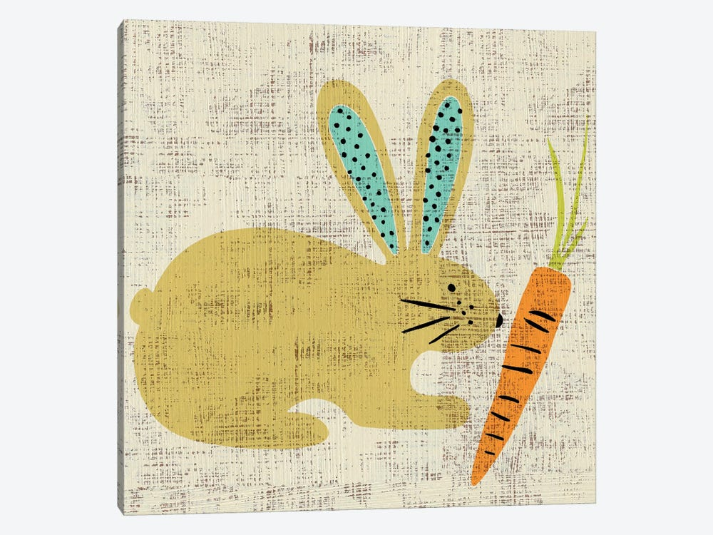 Ada's Bunny by Chariklia Zarris 1-piece Canvas Wall Art