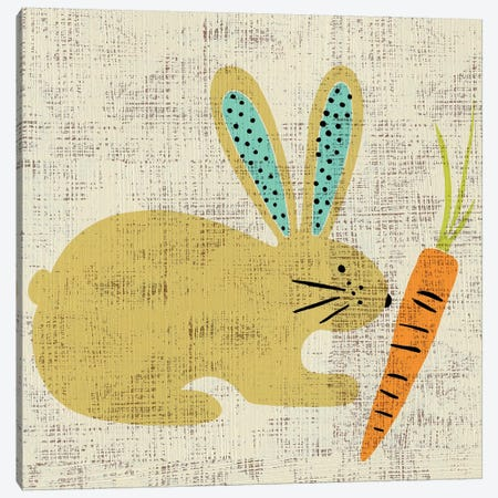 Ada's Bunny 3-Piece Canvas #ZAR66} by Chariklia Zarris Canvas Wall Art