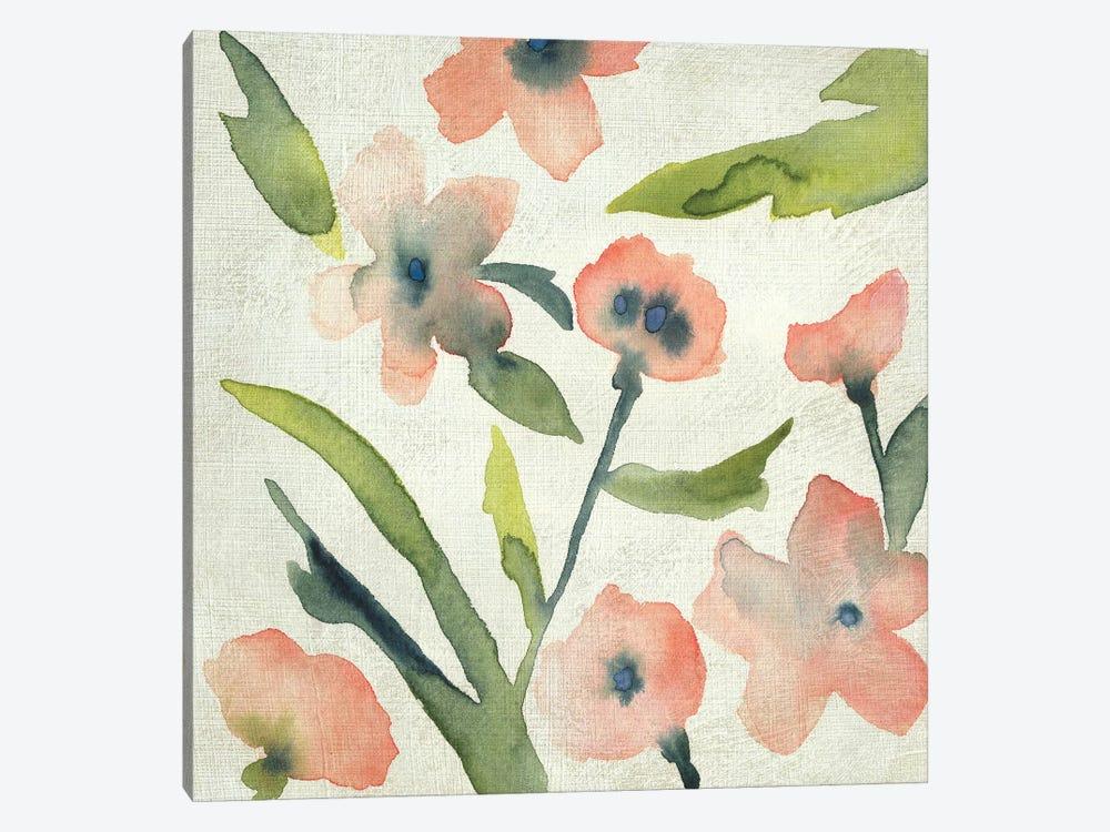 Blush Pink Blooms II by Chariklia Zarris 1-piece Canvas Artwork