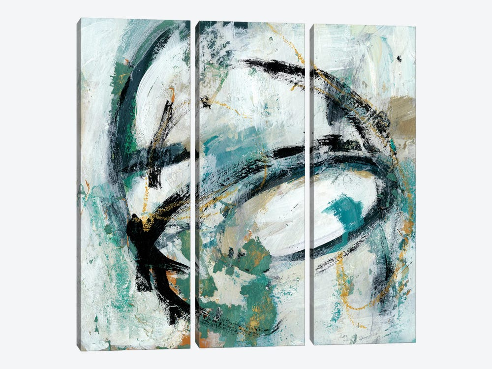 Combustion II by Chariklia Zarris 3-piece Canvas Artwork