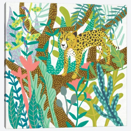 Jungle Roar I Canvas Print #ZAR685} by Chariklia Zarris Canvas Print