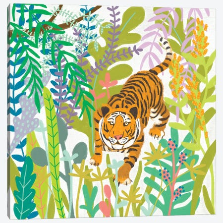 Jungle Roar II Canvas Print #ZAR686} by Chariklia Zarris Canvas Print