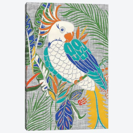 Tropical Cockatoo 3-Piece Canvas #ZAR692} by Chariklia Zarris Canvas Print