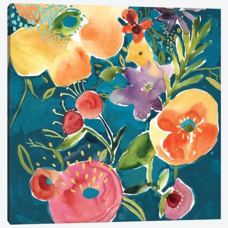 Abundant Florals I 3-Piece Canvas #ZAR693} by Chariklia Zarris Canvas Art Print