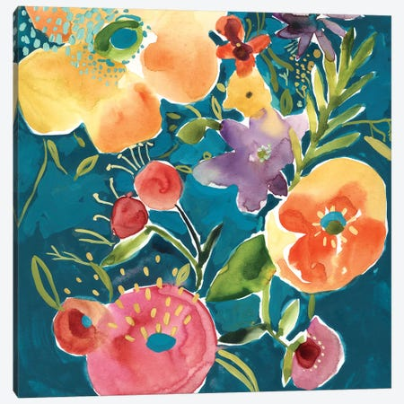 Abundant Florals I Canvas Print #ZAR693} by Chariklia Zarris Canvas Art Print