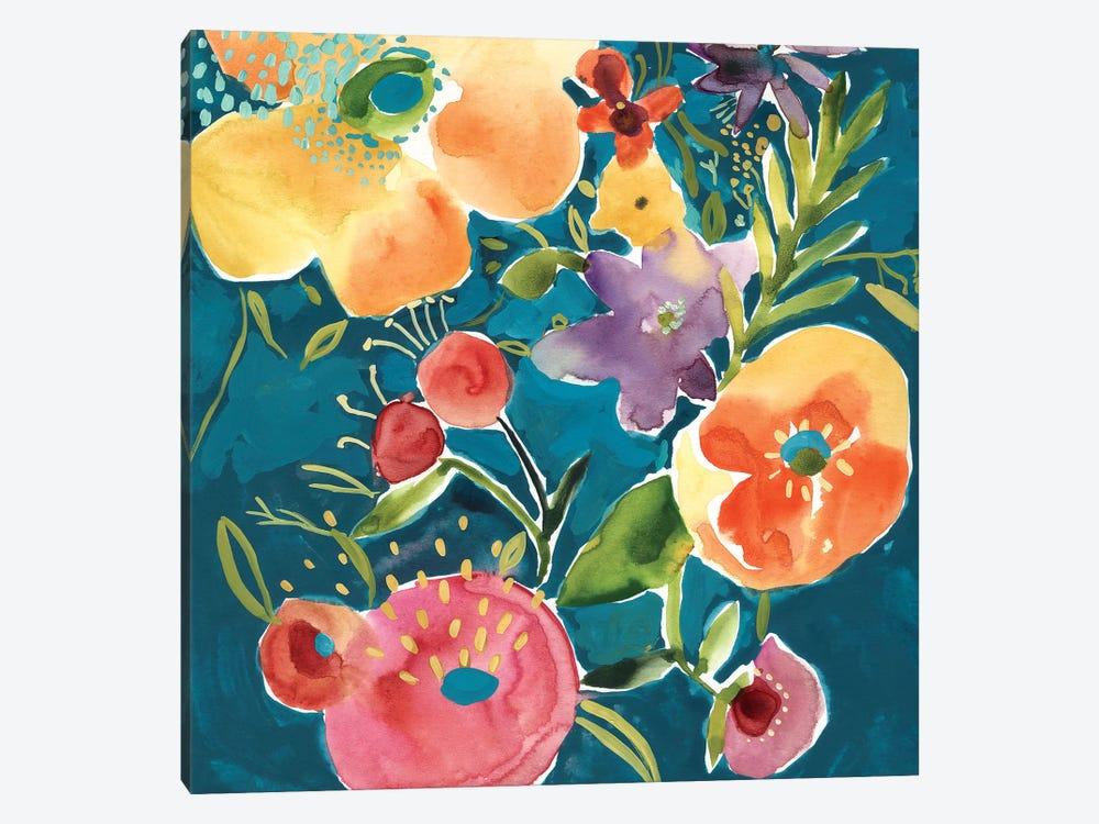 Abundant Florals I by Chariklia Zarris 1-piece Canvas Artwork