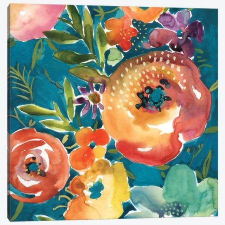 Abundant Florals II Canvas Print #ZAR694} by Chariklia Zarris Canvas Wall Art