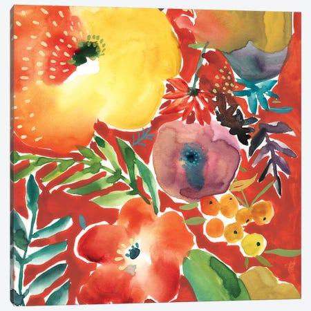 Abundant Florals III Canvas Print #ZAR695} by Chariklia Zarris Canvas Art