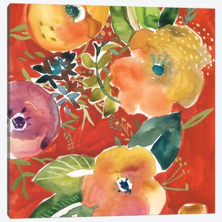 Abundant Florals IV Canvas Print #ZAR696} by Chariklia Zarris Canvas Artwork