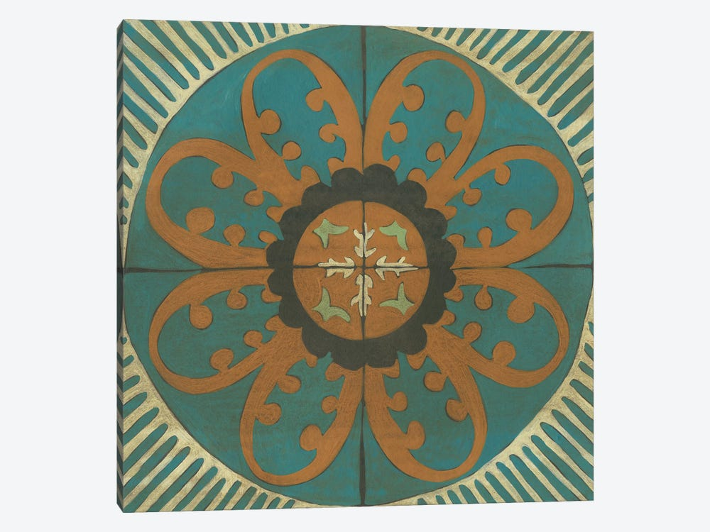 Fraser Tile VII by Chariklia Zarris 1-piece Canvas Art