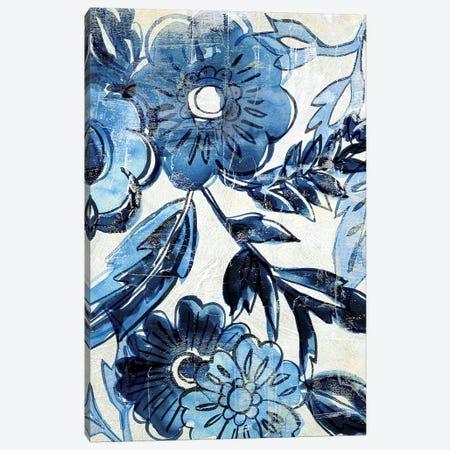 Indigo Porcelain I 3-Piece Canvas #ZAR712} by Chariklia Zarris Canvas Artwork