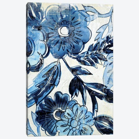 Indigo Porcelain I Canvas Print #ZAR712} by Chariklia Zarris Canvas Artwork