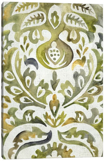 Verdant Damask I Canvas Art Print