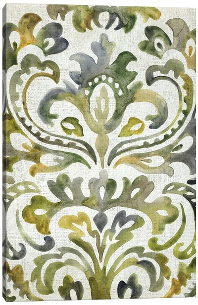 Verdant Damask II Canvas Art Print