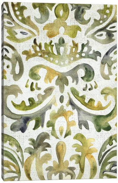 Verdant Damask III Canvas Art Print