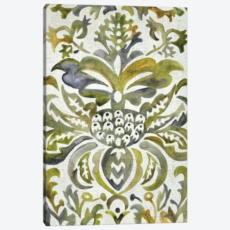 Verdant Damask IV Canvas Print #ZAR755} by Chariklia Zarris Canvas Art Print