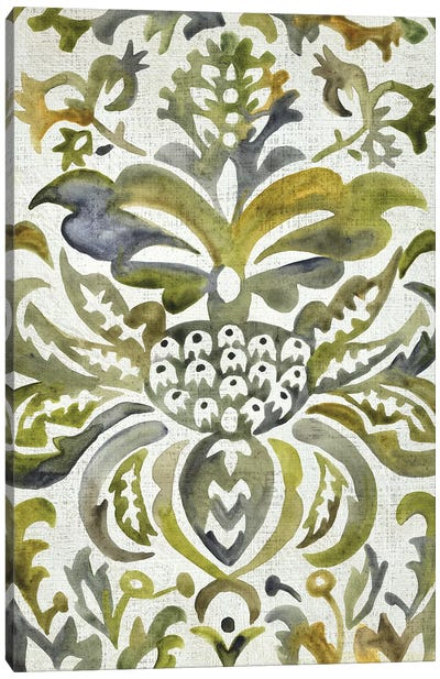 Verdant Damask IV Canvas Art Print