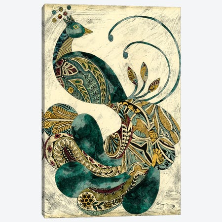 Royal Peacock I 3-Piece Canvas #ZAR7} by Chariklia Zarris Art Print