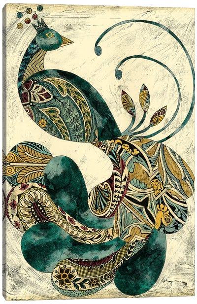 Royal Peacock I Canvas Art Print