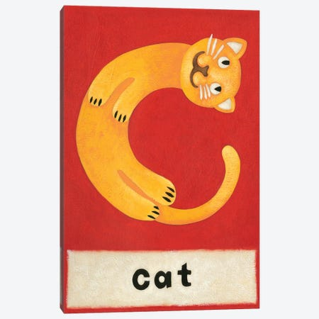 C Is For Cat Canvas Print #ZAR80} by Chariklia Zarris Art Print