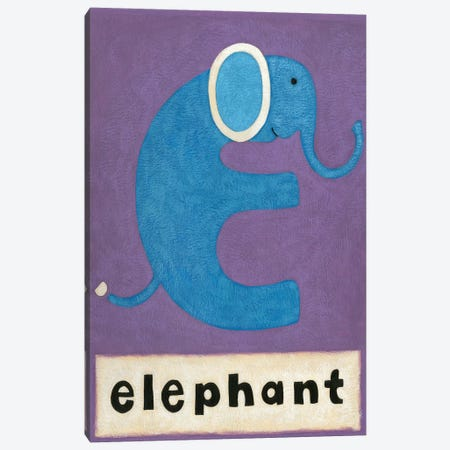 E Is For Elephant Canvas Print #ZAR81} by Chariklia Zarris Canvas Art Print