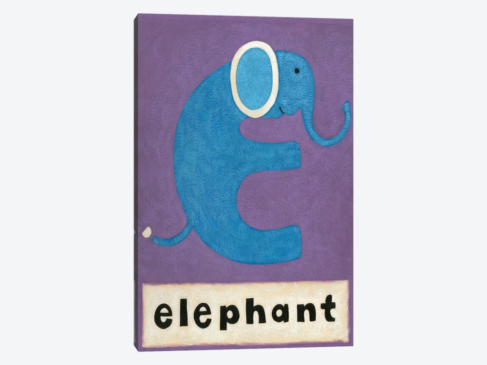 E Is For Elephant by Chariklia Zarris 1-piece Canvas Print
