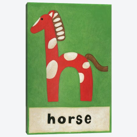 H Is For Horse Canvas Print #ZAR82} by Chariklia Zarris Art Print