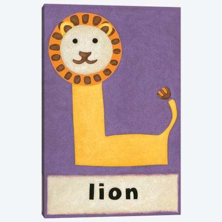 L Is For Lion Canvas Print #ZAR83} by Chariklia Zarris Canvas Print