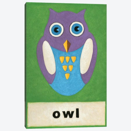 O Is For Owl Canvas Print #ZAR84} by Chariklia Zarris Canvas Artwork
