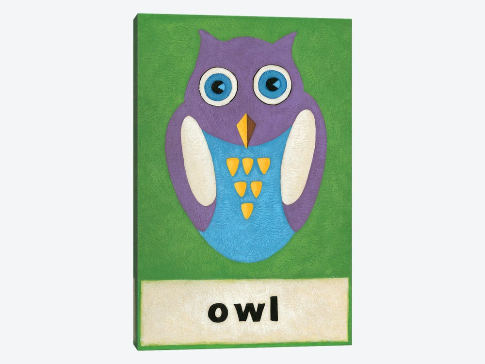 O Is For Owl by Chariklia Zarris 1-piece Canvas Artwork