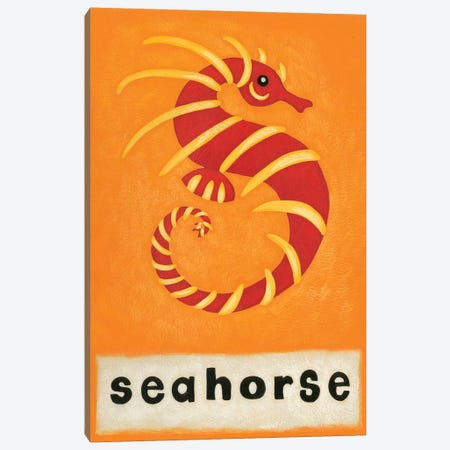 S Is For Seahorse Canvas Print #ZAR86} by Chariklia Zarris Canvas Wall Art